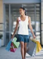 mulher às compras