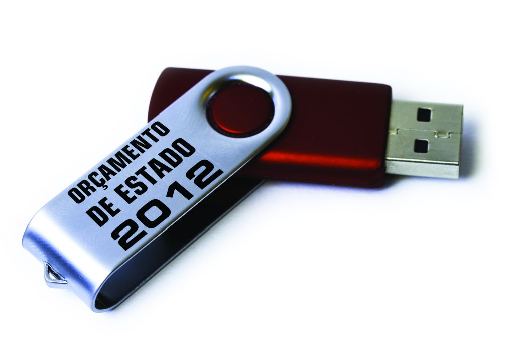 red USB Sick on white background