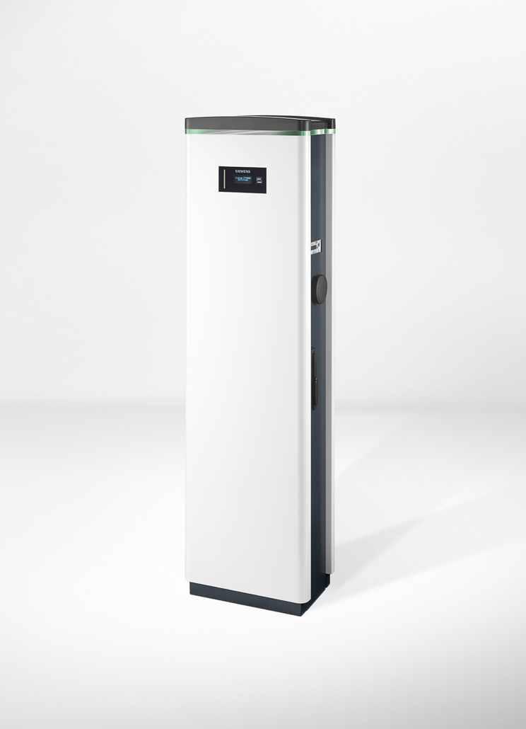 Neue Siemens-Ladesäule lädt zwei Elektrofahrzeuge gleichzeitig / New Siemens charging column recharges two electric vehicles at the same time