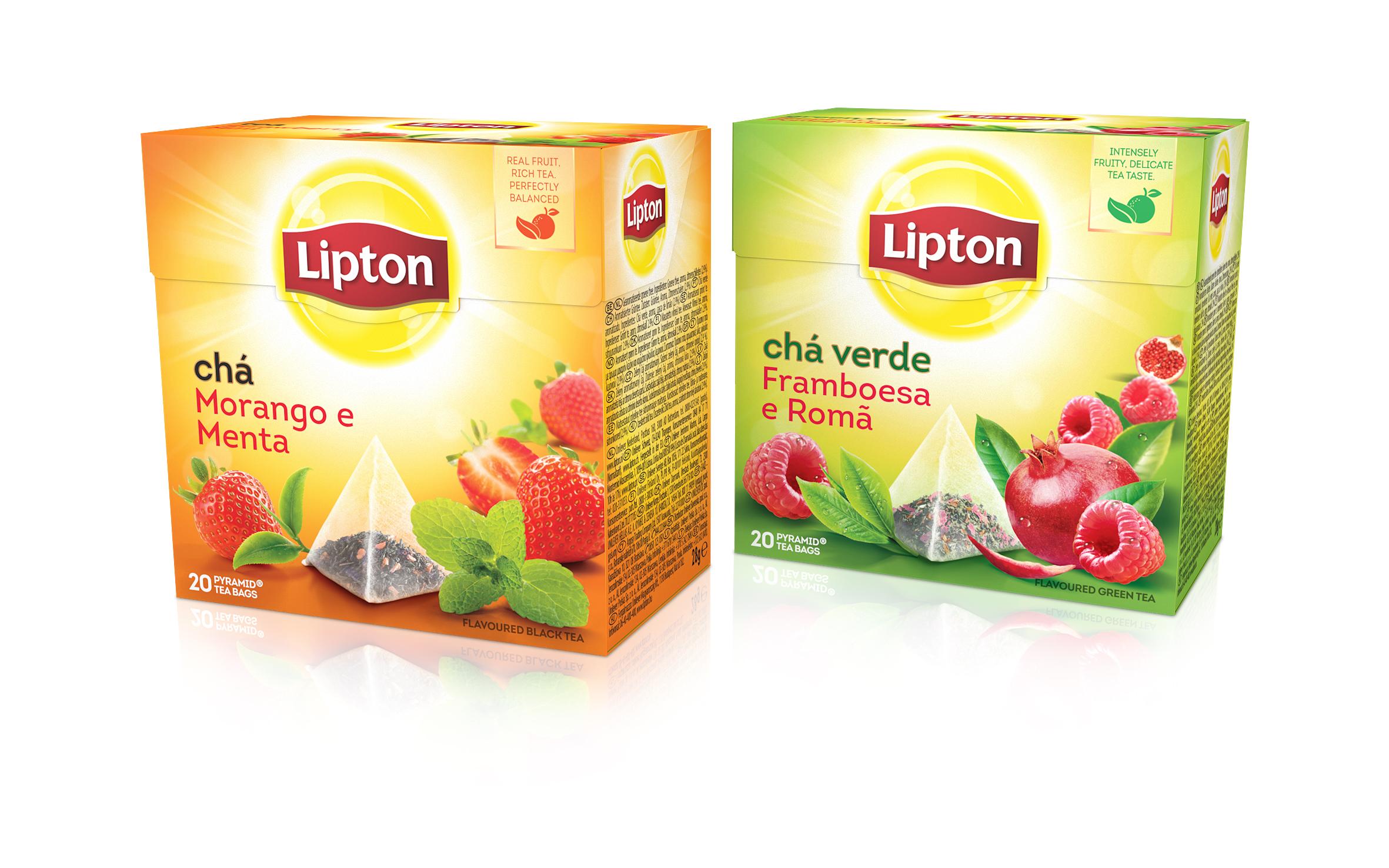 Lipton Framboesa Romã & Lipton Morango e Menta