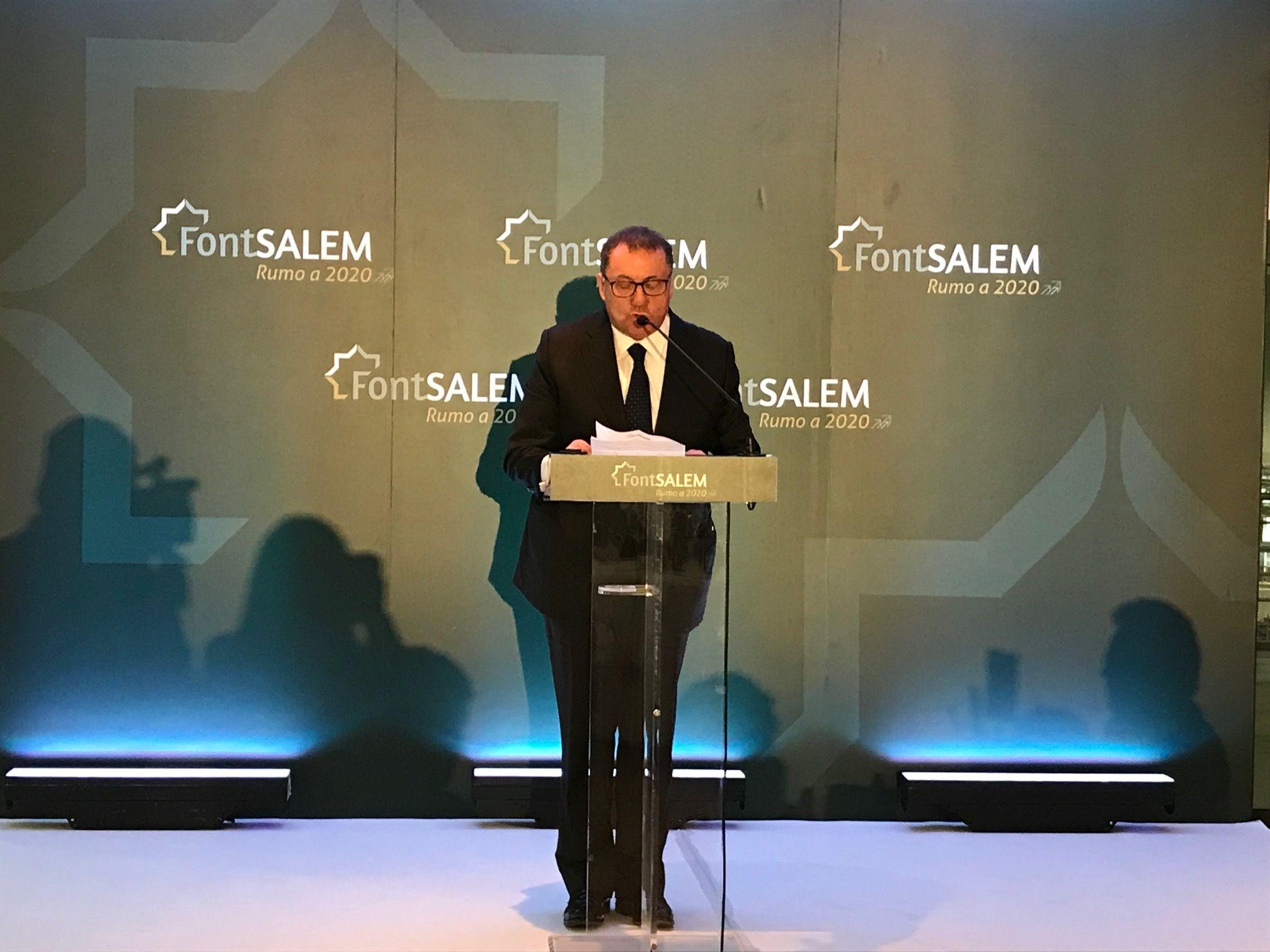 Rámon Agenjo, presidente da Font Salem