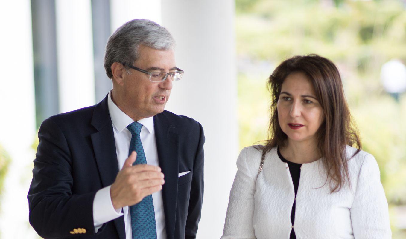 Pedro Pires de Miranda (Siemens) e Ana Teresa Lehmann (Governo)
