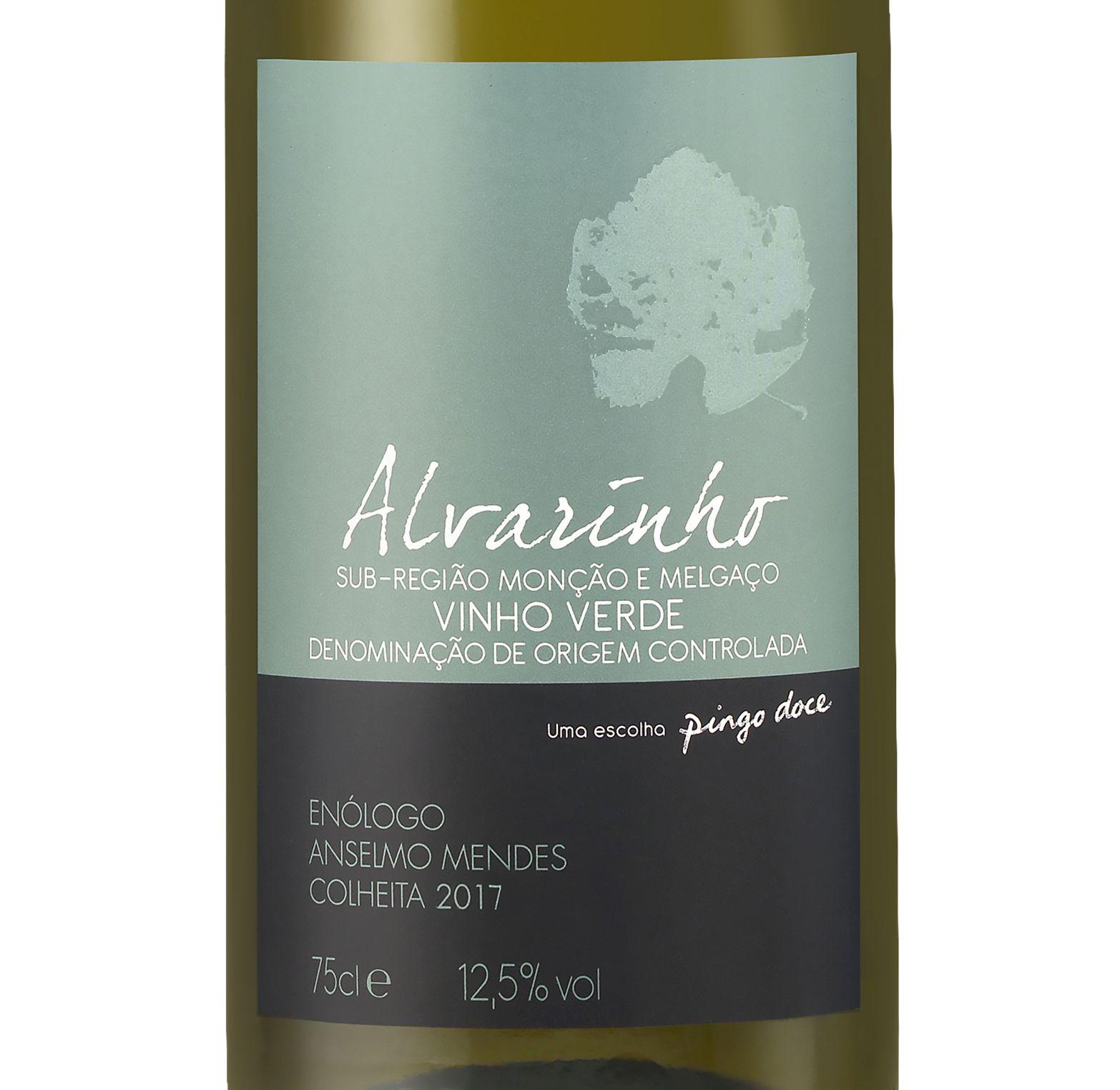 Vinho Verde Alvarinho Branco Pingo Doce 75cl-2017 (1)