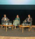 Da direita para a esquerda: Fernando Ventura (Jerónimo Martins), João Letras (Sociedade Ponto Verde), Irene Mora (Plastics Europe) e Eduardo Soares (Amorim Cork Composites)