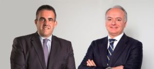 Victor del Pozo, conselheiro delegado do El Corte Inglés, e Javier Catena, primeiro executivo da Real Estate