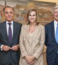 Juan Gandarias, presidente executivo de CaixaBank Payments & Consumer; Ana Vuelta, Country Manager do CaixaBank Payments & Consumer em Portugal; Pablo Forero, presidente executivo do BPI