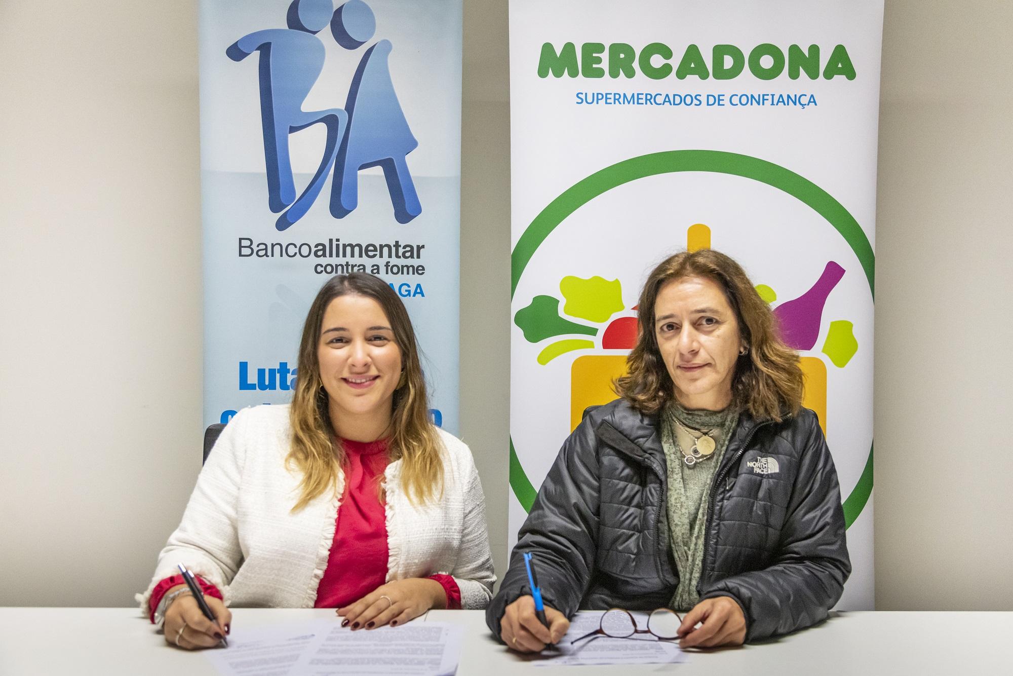 Pilar Barbosa do Banco Alimentar de Braga e Inês Santos da Mercadona