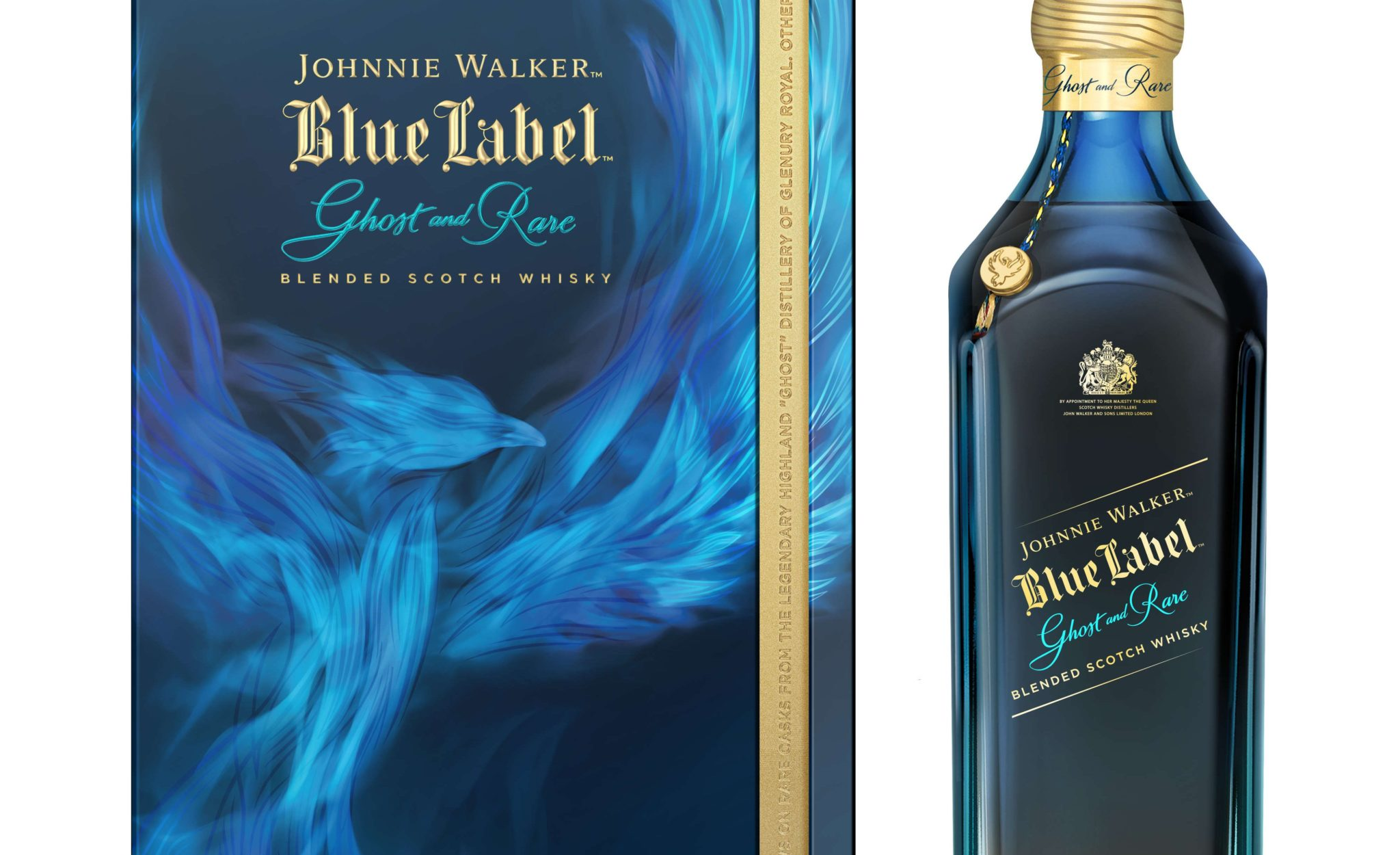 Johnnie Walker Blue Label Ghost and Rare Glenury Royal_