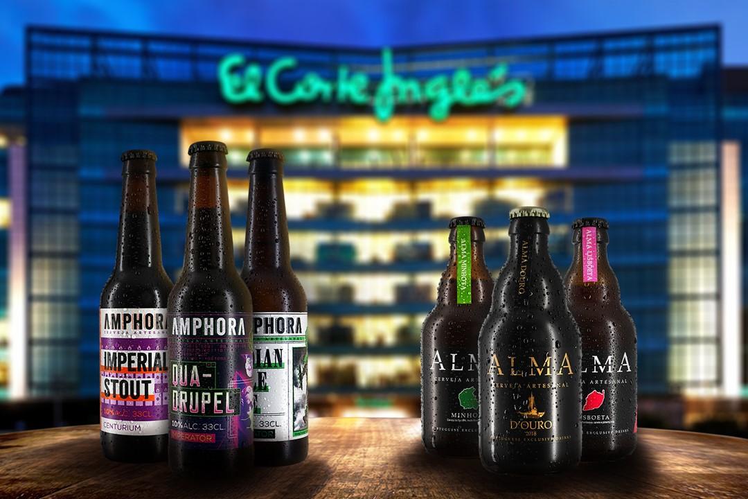 Cervejas Amphora e Alma _ El Corte Inglés