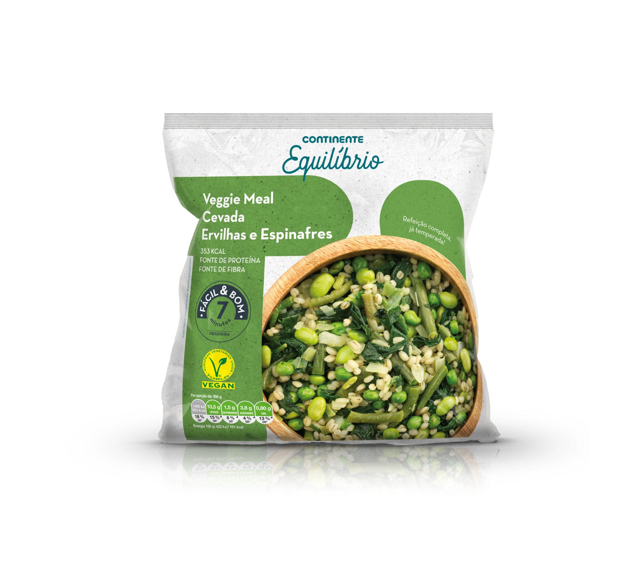 Veggie Meal Cevada Ervilhas e Espinafres 350g